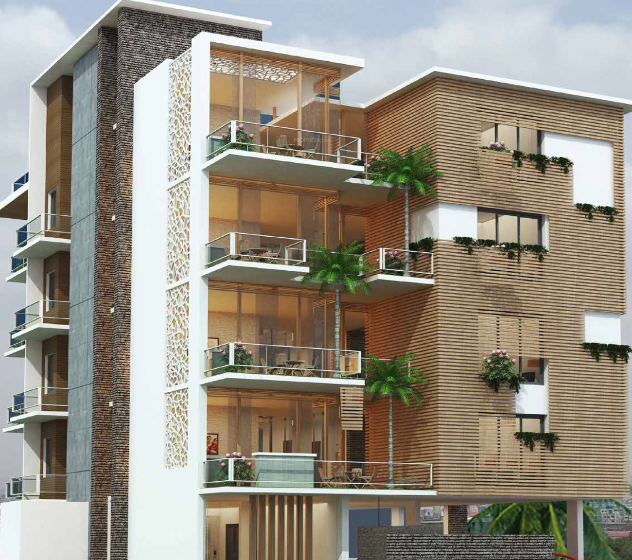Bedroom Designs From Professionals In Hyderabad  C2NyYXBlLTEtRHBWSGVH: 4200 Sq Ft 3 BHK 3T Apartment For Sale In Pavani Groups