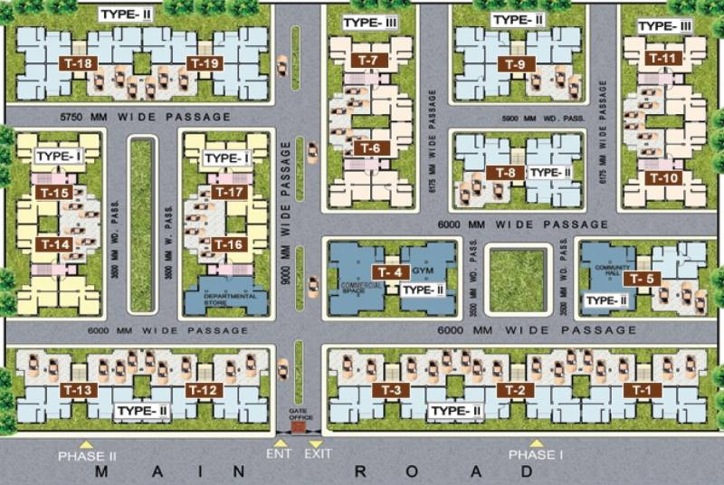 Images for Layout Plan of Golden Golden Valley Housing Complex