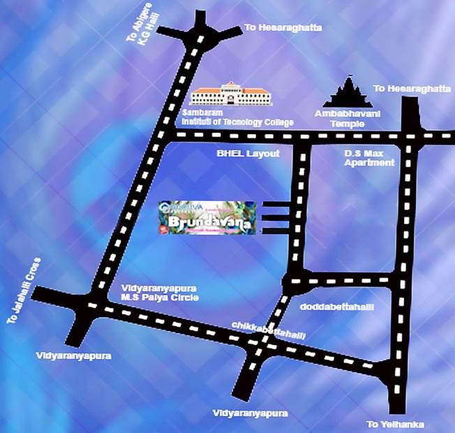 Images for Location Plan of Guruva Brundavana
