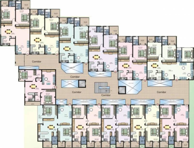 Images for Cluster Plan of Arya Mansion