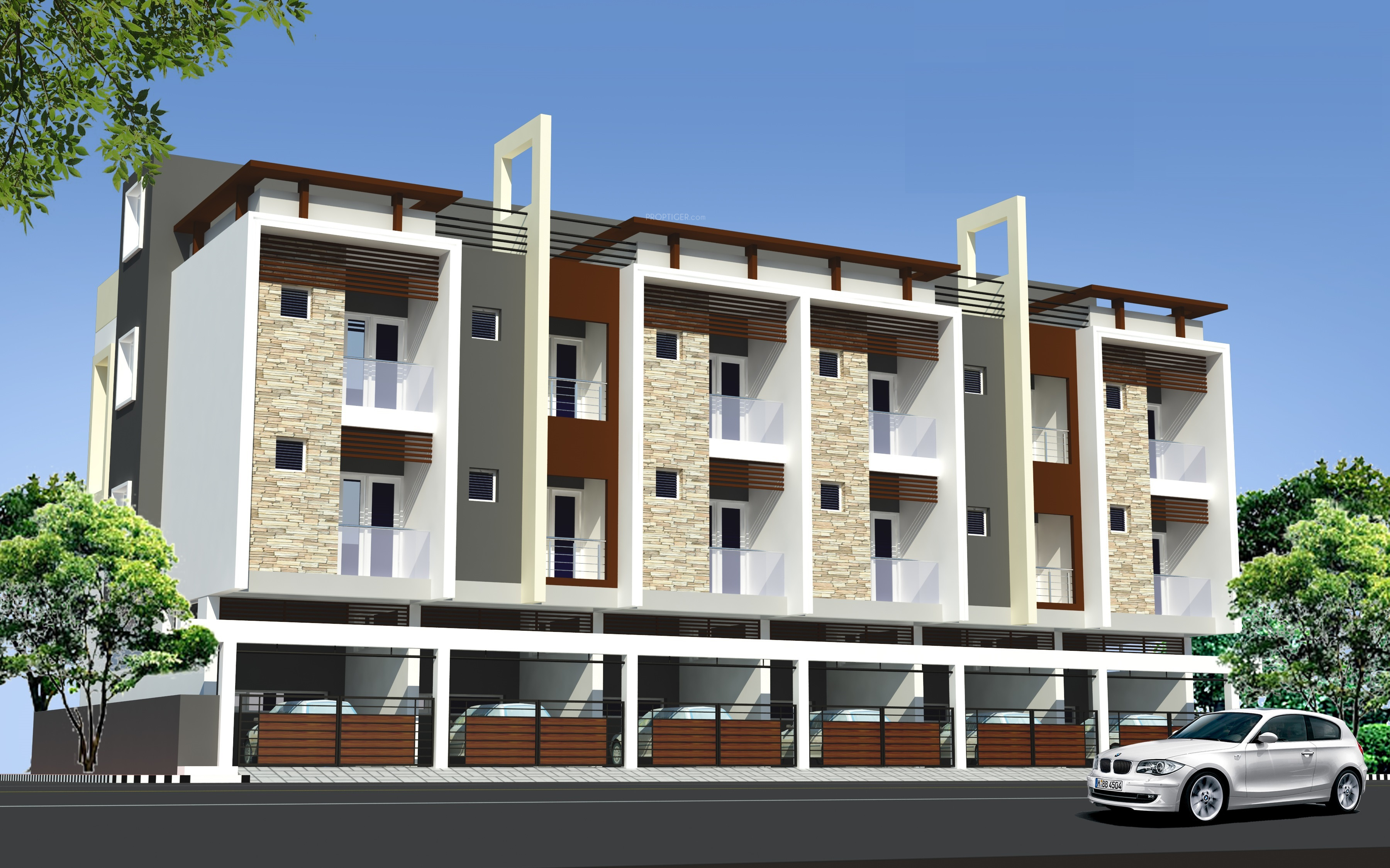 Apartment Compound Wall Design : Sq ft bhk t villa for sale in mgp sri homes