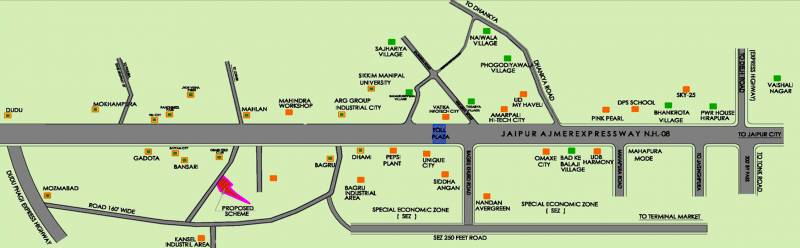 Images for Location Plan of SRS Manokamna Enclave II