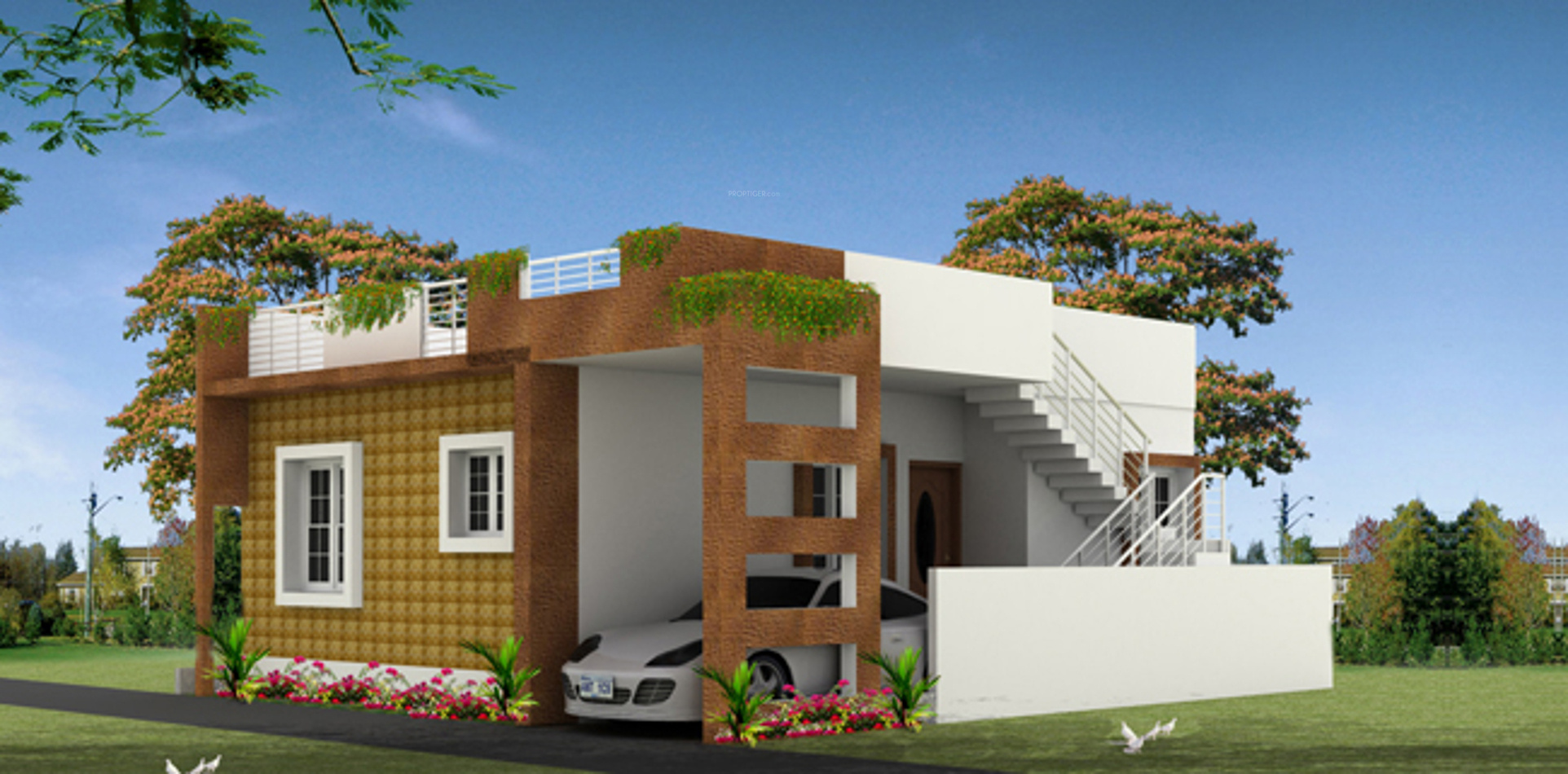 South Facing Ground Floor Elevation : Sq ft bhk t villa for sale in renaatus projects