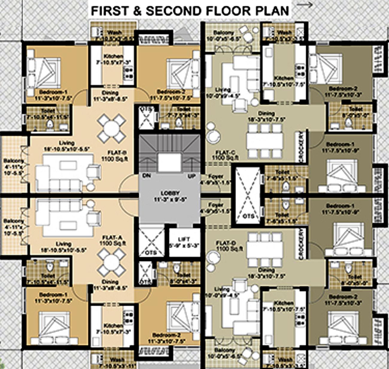 Gatala jalandhara residency in virugambakkam chennai for X2 residency floor plan