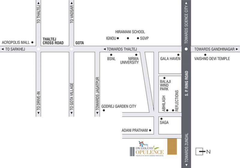 Images for Location Plan of Dwarkesh Opulence
