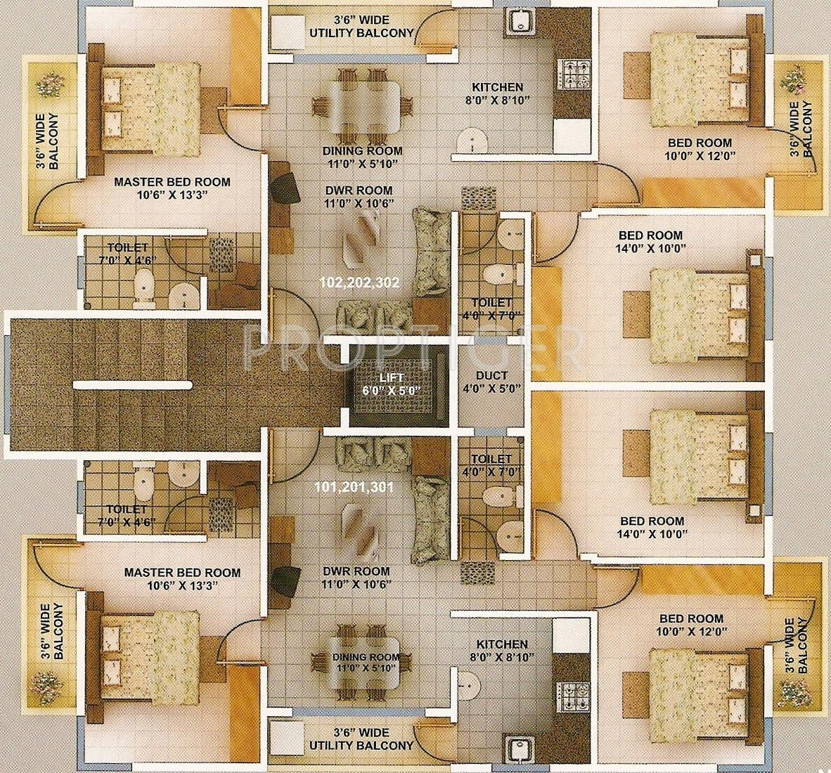 1200 sq ft 3 bhk 2t apartment for sale in green city for Apartment plans 1200 sq ft