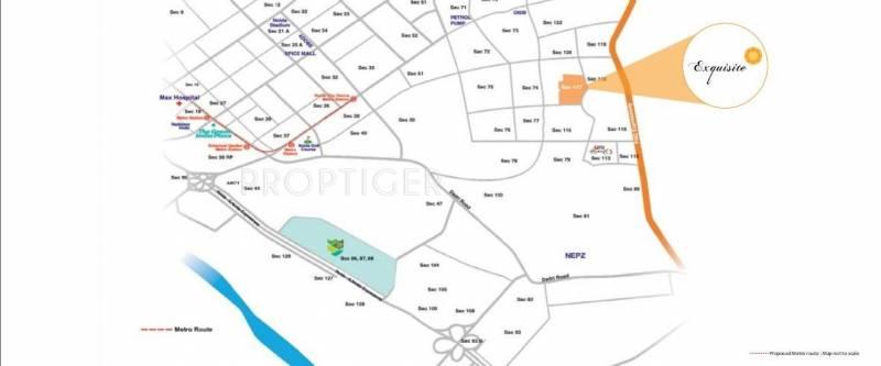 exquisite Images for Location Plan of Unitech Exquisite