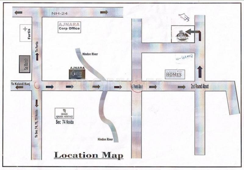 Images for Location Plan of Ajnara Le Garden