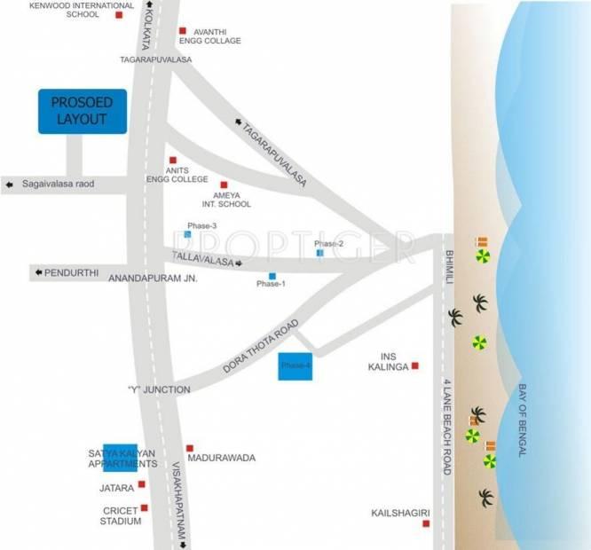 Satya Kalyan Constructions Kalyans Krishna Avenue Location Plan