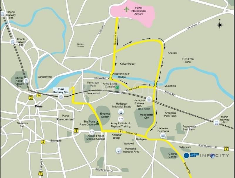 residency Images for Location Plan of Shapoorji Pallonji Residency