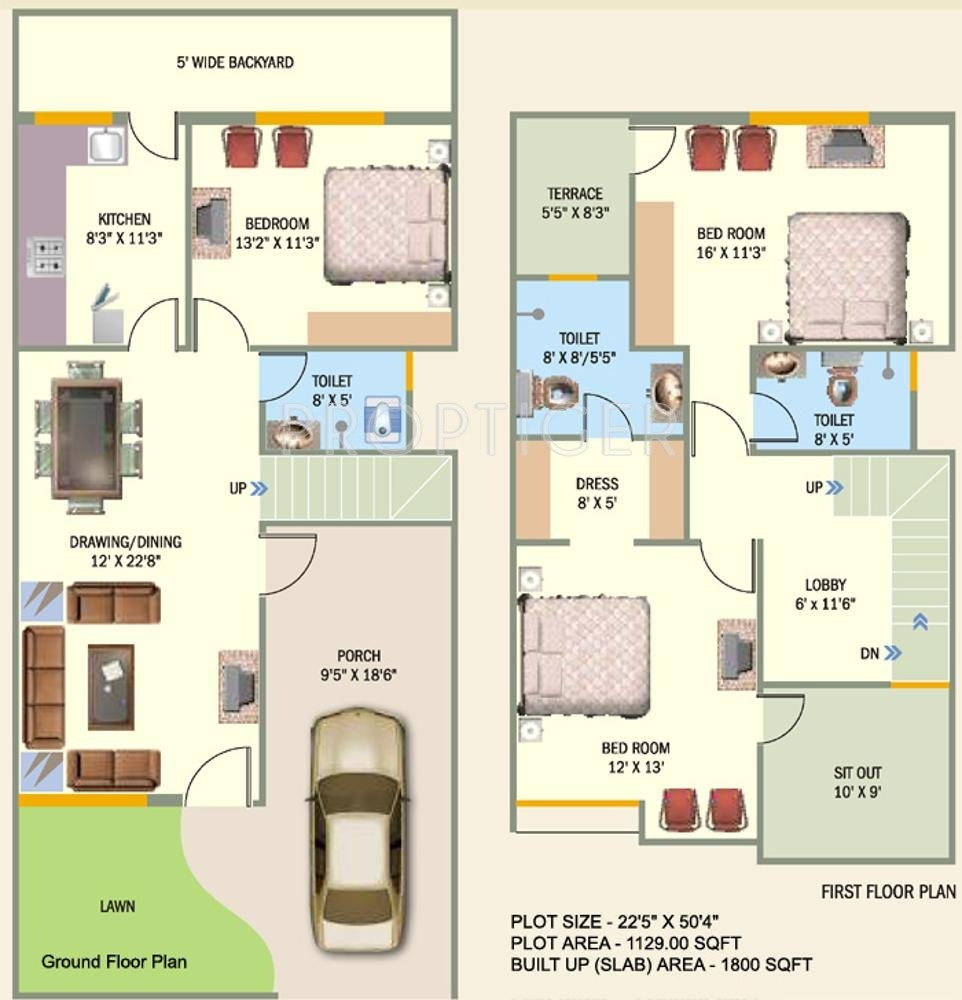 2100 sq ft 3 bhk 3t apartment for sale in meenakshi for Apartment villa design