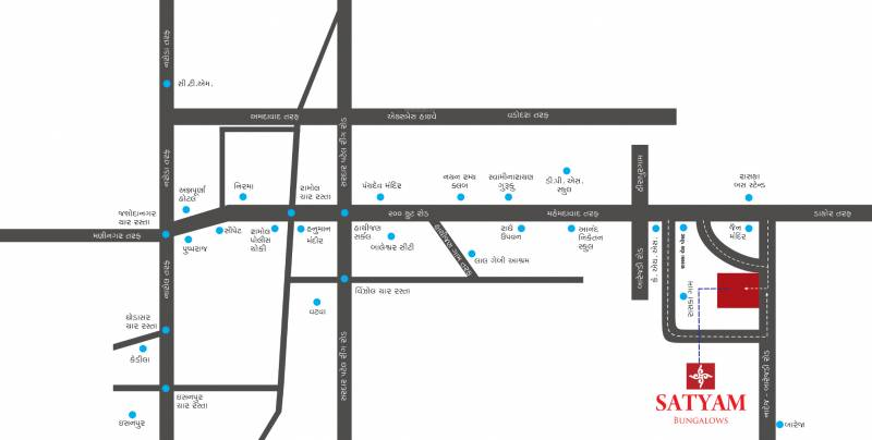 Images for Location Plan of Rinkesh Satyam Bungalows