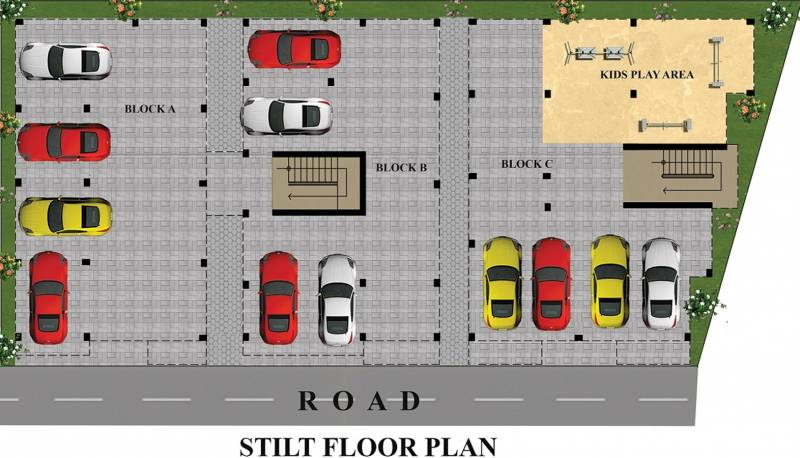 Images for Cluster Plan of JMM Bell Flower Apartments