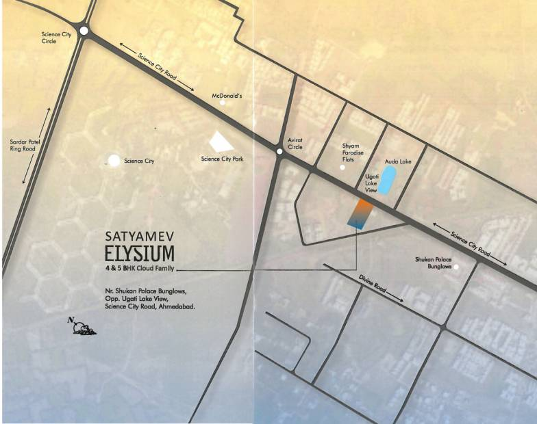 Images for Location Plan of Satyamev Elysium