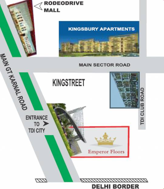 Images for Location Plan of TDI Emperor Floors