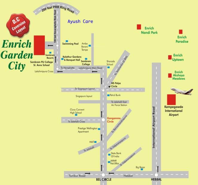 garden-city Images for Location Plan of Enrich Garden City