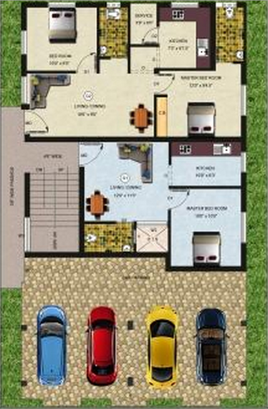 770 Sq Ft 2 Bhk 2t Apartment For Sale In Amudha Blossom