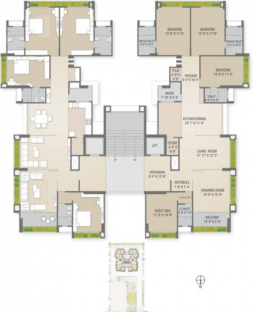 Images for Cluster Plan of Sharanya Bellevue