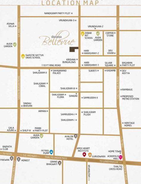 Images for Location Plan of Sharanya Bellevue