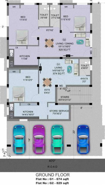 Images for Cluster Plan of Madhuri Sabari Flats