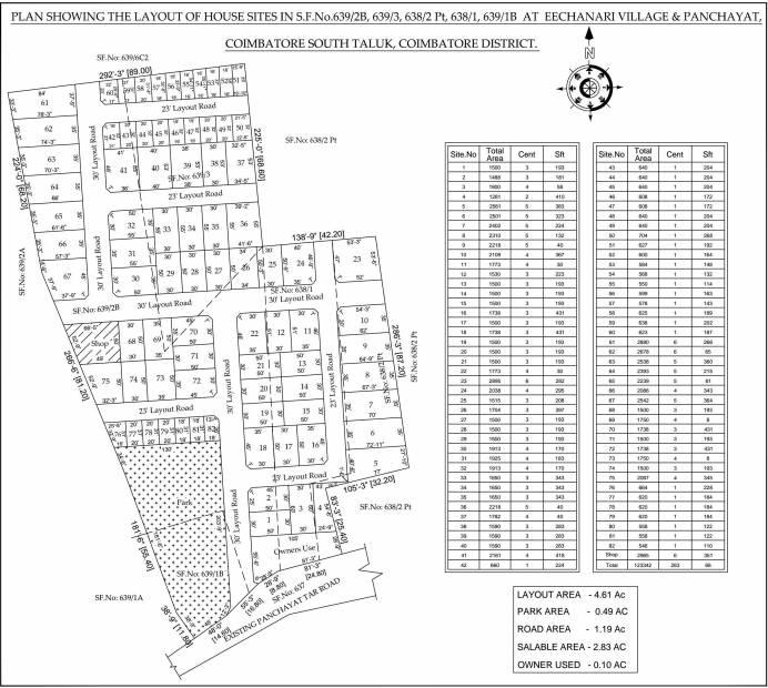 Images for Site Plan of Vivega Akshatham