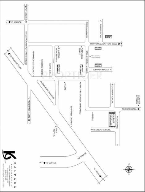 Images for Location Plan of Kalpaka Builders Kalpaka Vrindavan