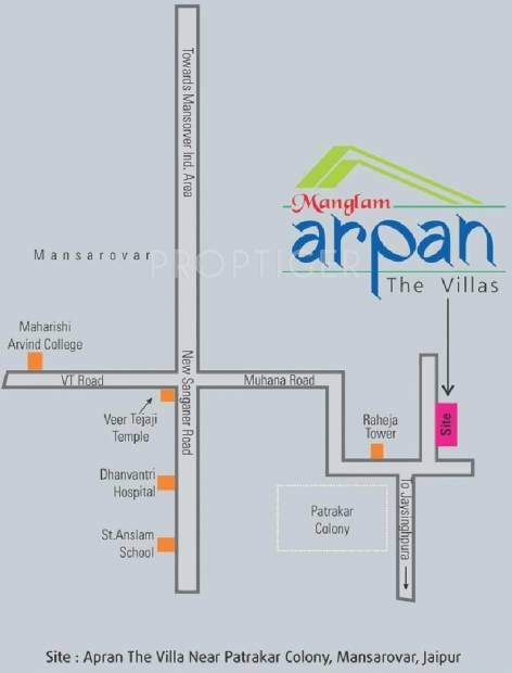 Images for Location Plan of Manglam Arpan Villa