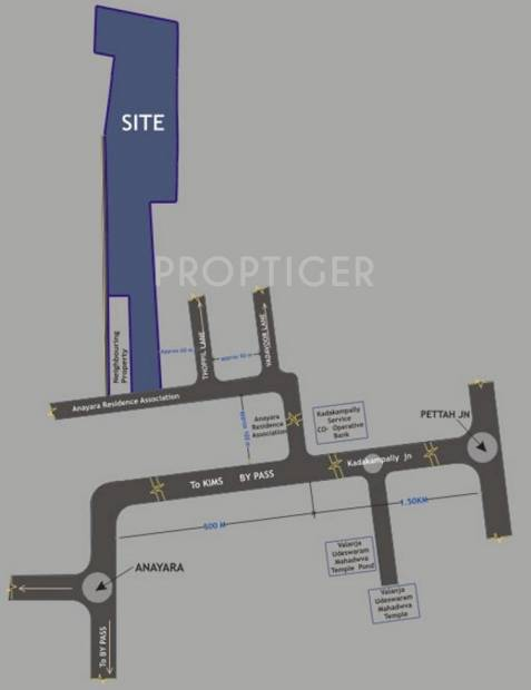 deepam Images for Location Plan of Artech Deepam