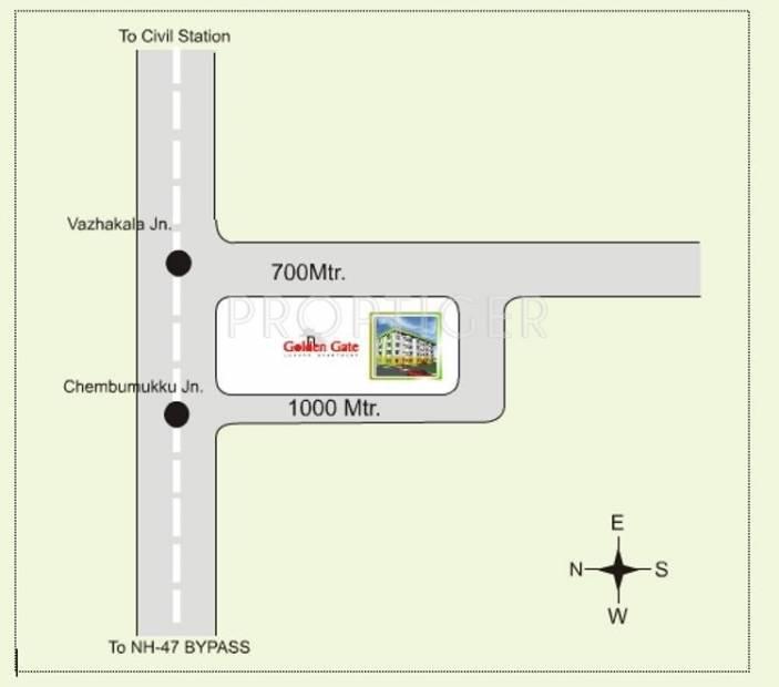 K P Varkey and V S Builders Golden Gate Location Plan