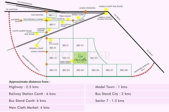 Images for Location Plan of Vatika City Central Plots