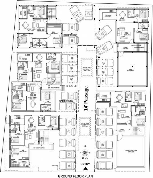 Images for Cluster Plan of HPK Star Property Developer Promenade
