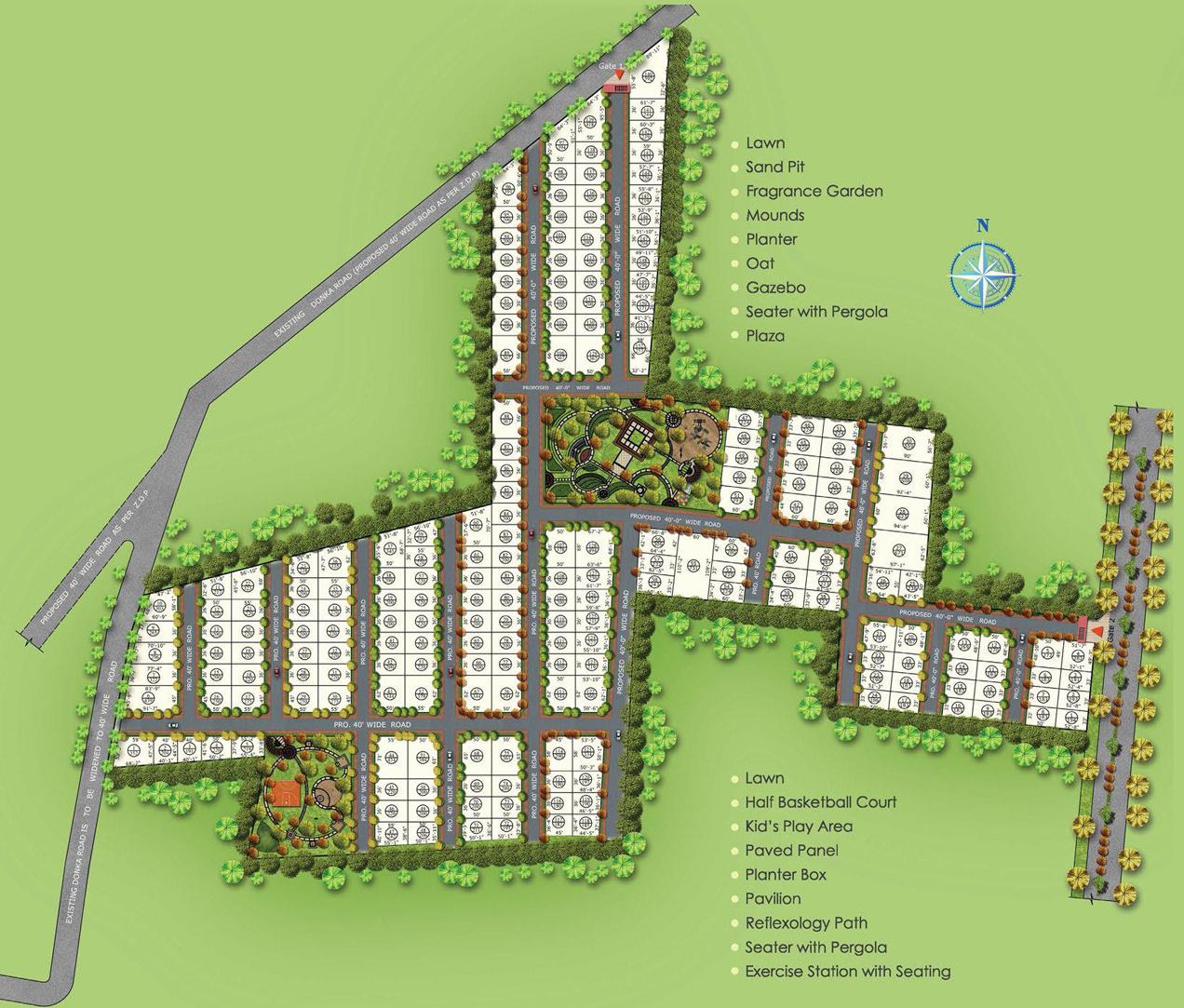 2880 Sq Ft Plot For Sale In Vertex Homes Capital Vista