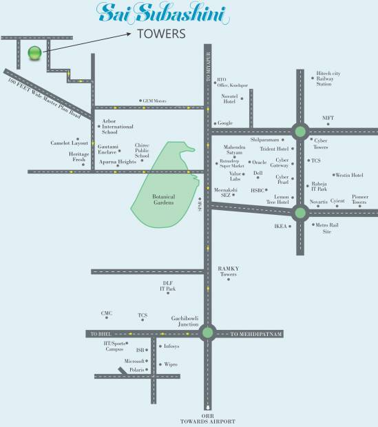 Images for Location Plan of Gauthami Sai Subashini Towers