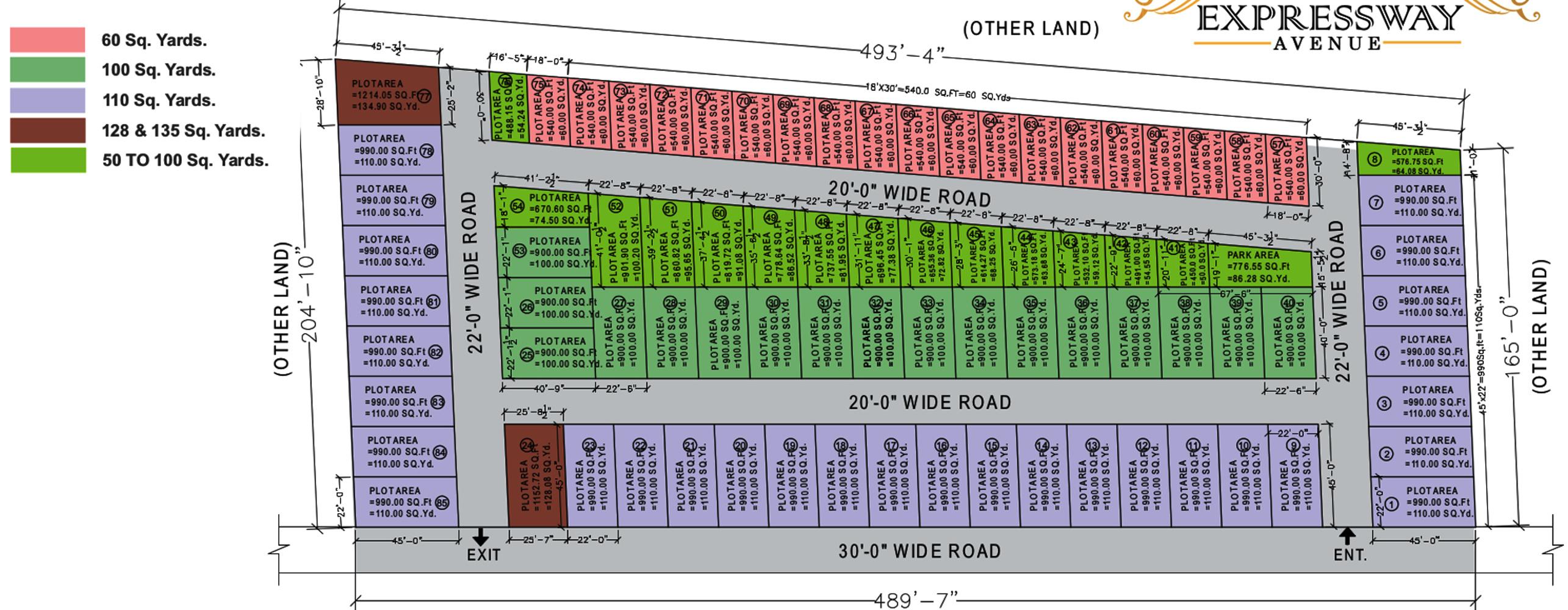 Ns Expressway Avenue In Sector 17b Yamuna Expressway