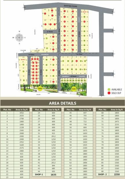 Images for Layout Plan of My Guru Dhakshina Avenue