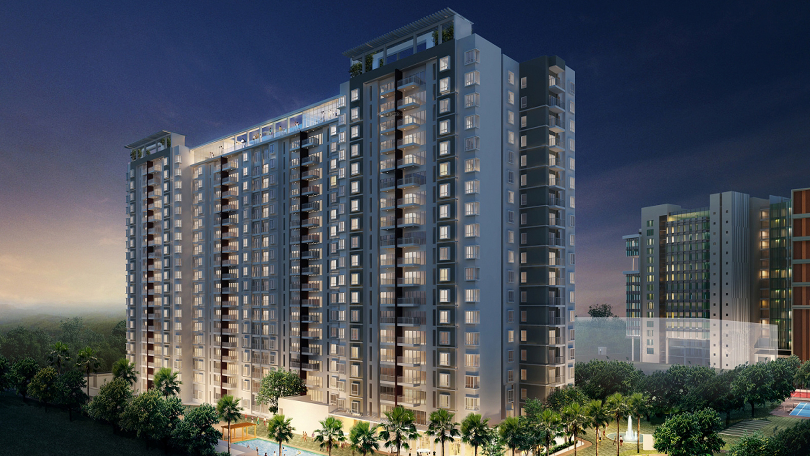 590 sq ft 1 BHK 1T Apartment for Sale in ABP Housing ...
