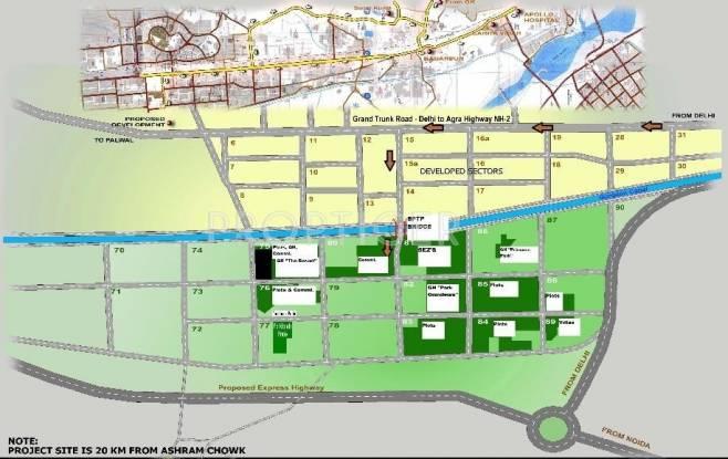 Images for Location Plan of BPTP Parklands Pride