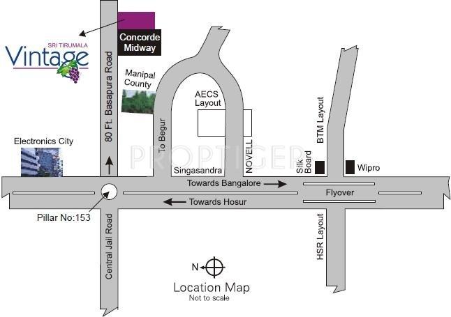 Images for Location Plan of Amigo Sri Tirumala Vintage