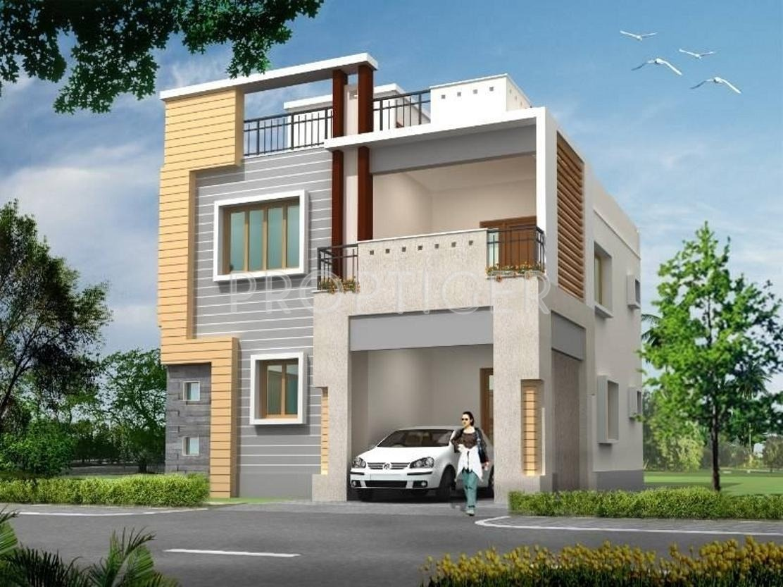 One Floor Villa Elevation : Excel brindavan gardens in anekal city bangalore price