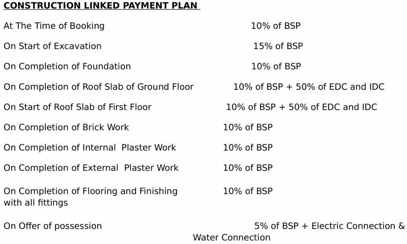 Images for Payment Plan of E3 Royal Greens Villa
