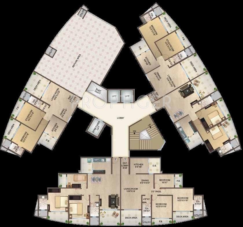 1925 Sq Ft 2 Bhk 2t Apartment For Sale In Aaress Meeras