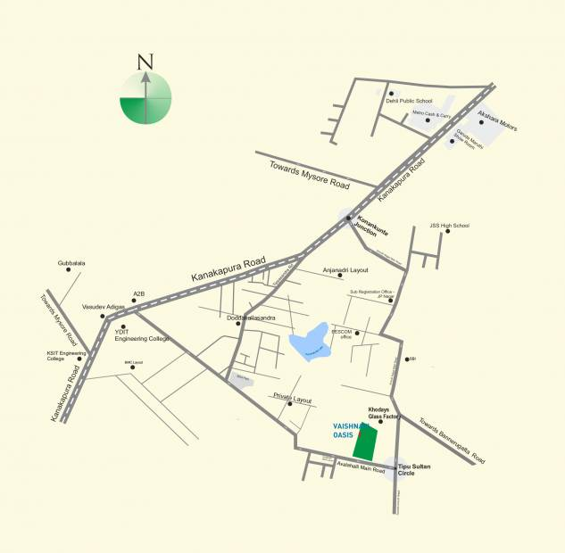 Images for Location Plan of Vaishnavi Oasis