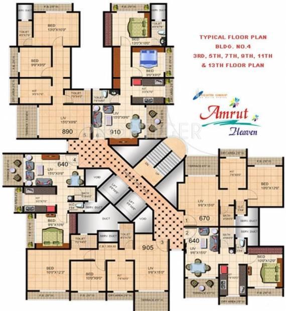 Images for Cluster Plan of Mehta Amrut Heaven