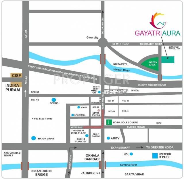aura Images for Location Plan of Gayatri Aura