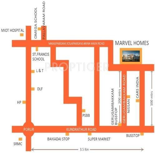 AKM Rigid Developer Marvel Homes Location Plan