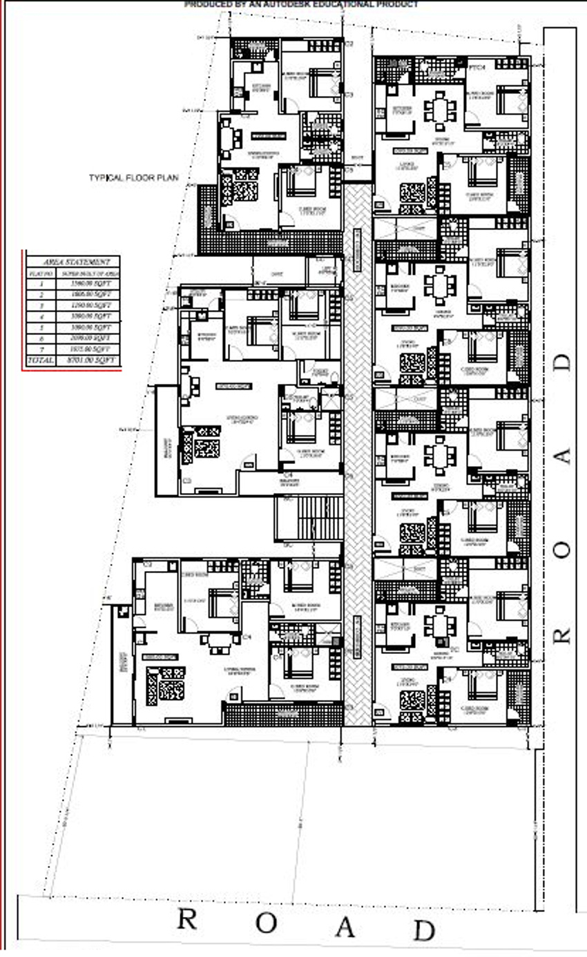 1100 sq ft 3 bhk 3t apartment for sale in vikhyath icon kr