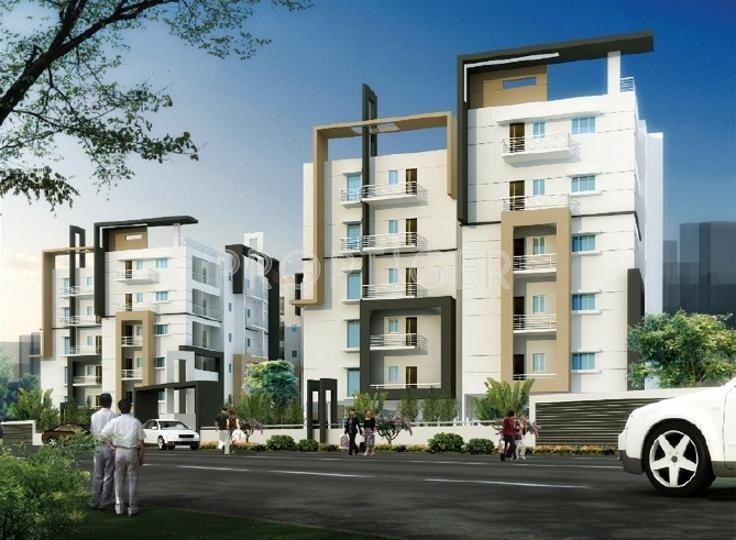 2 3 Bhk Cluster Plan Image Pavani Sreshta For Sale At Marathahalli Bangalore