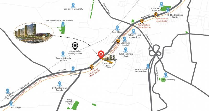 Images for Location Plan of Essar Vishwapriya Vertical Garden