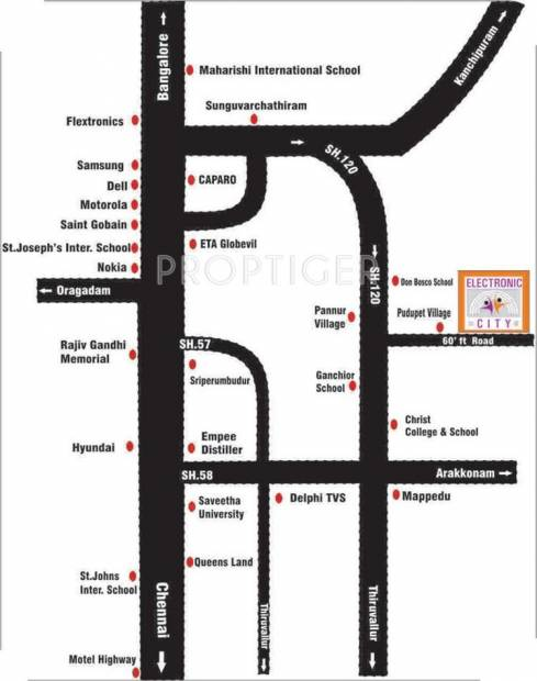 Images for Location Plan of Accord Electronic City