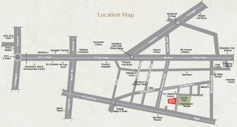Images for Location Plan of Happy Vasanthaa Happy Homes Nest